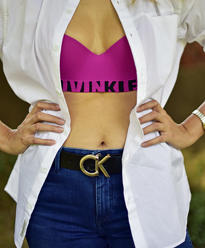 Calvin Klein | Akanksha Redhu | faceless half front bra hands on waist