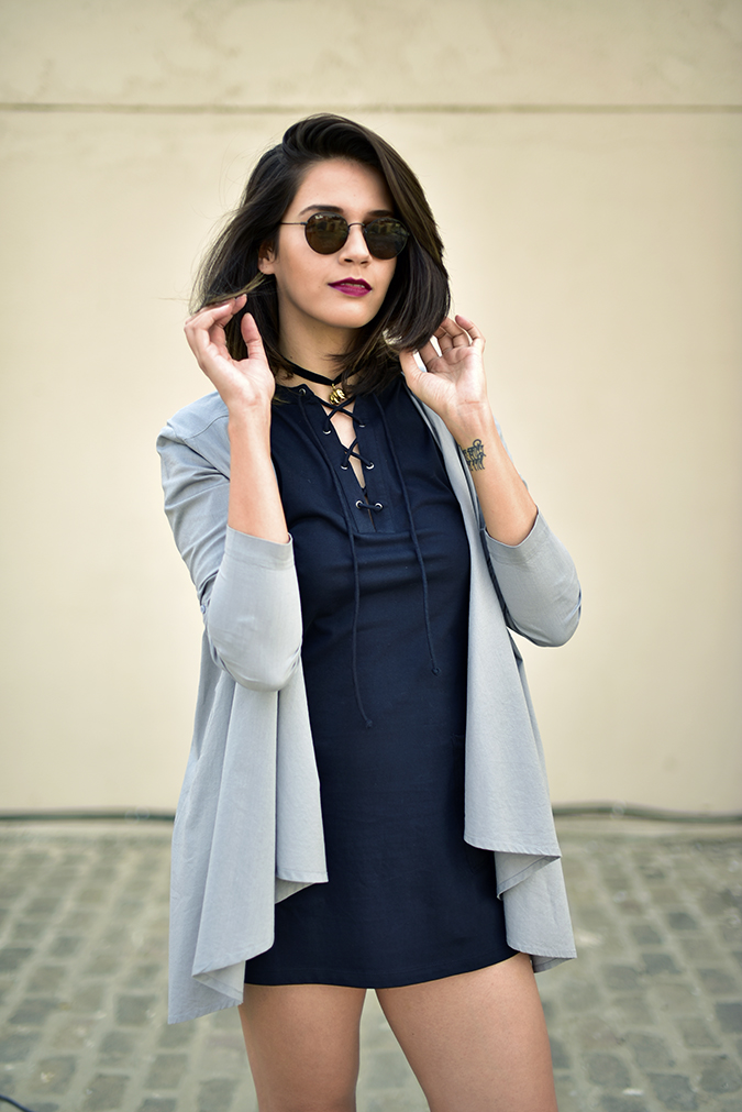 Sbuys | Akanksha Redhu | half front jacket hand in hair