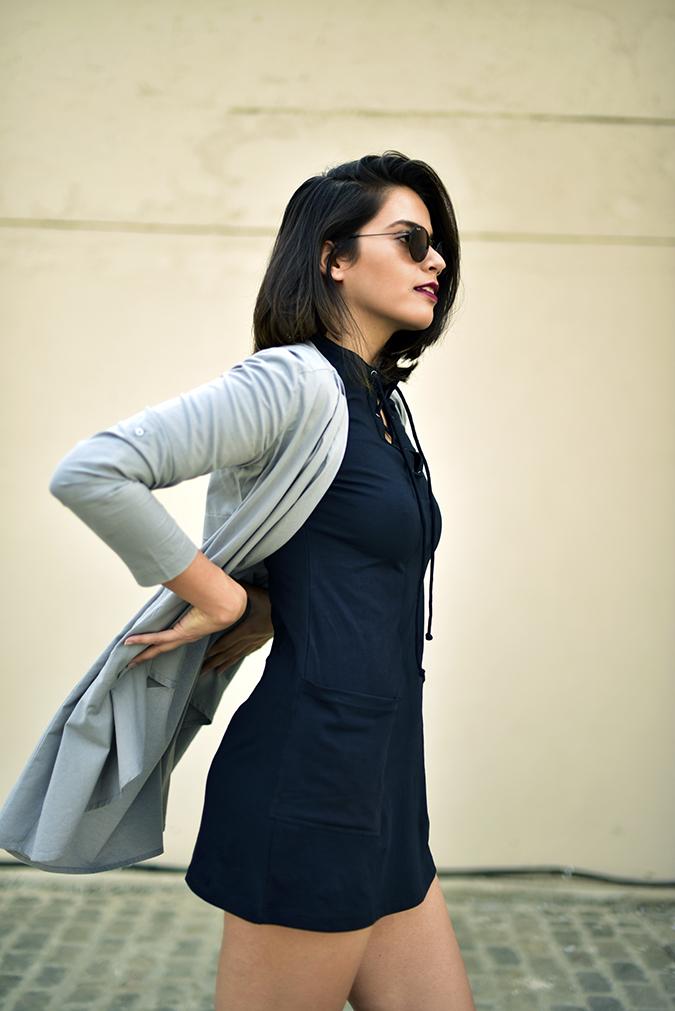 Sbuys | Akanksha Redhu | half side flying jacket