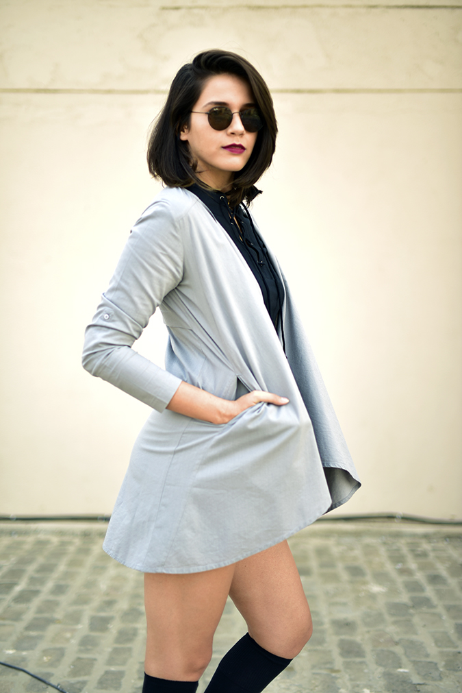 Sbuys | Akanksha Redhu | half side hand in jacket pocket