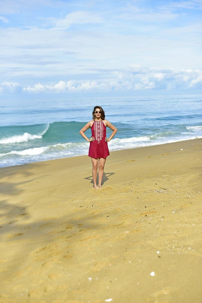 Sbuys | Akanksha Redhu | full front arms on waist beach far