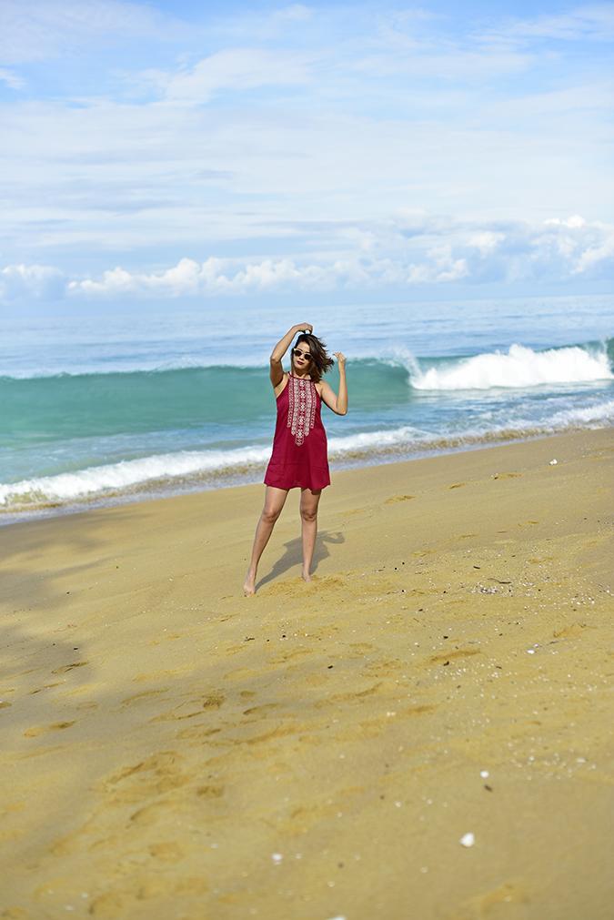 Sbuys | Akanksha Redhu | full front playing with hair beach far