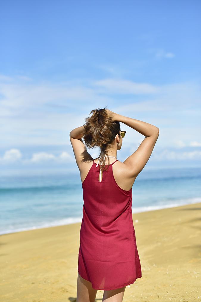Sbuys | Akanksha Redhu | half back hair up beach