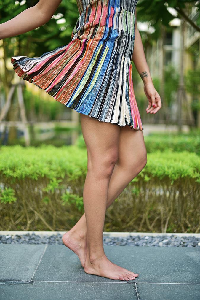 Swarovski Confluence | Akanksha Redhu | half bottom dress fly