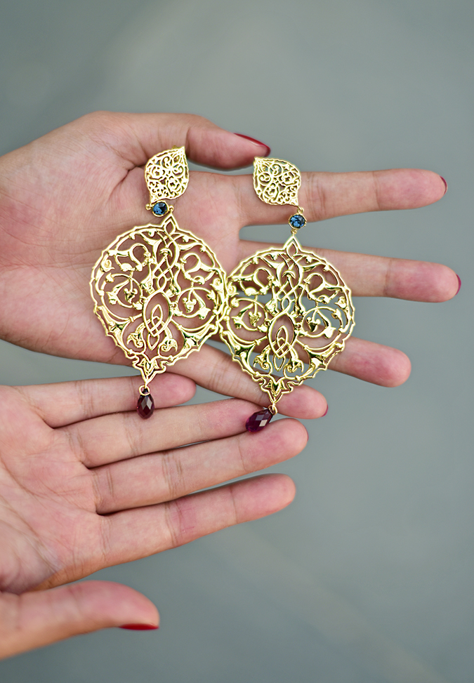 Swarovski Confluence | Akanksha Redhu | earrings flat in hand