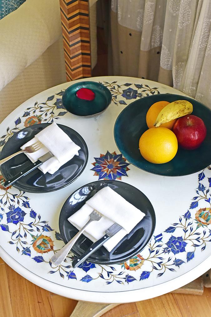 Salvatore Ferragamo | Akanksha Redhu | badroom table fruits