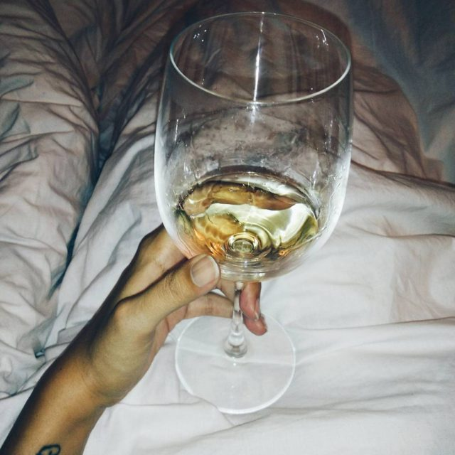 Wine in bed  Happiness  See you soon Tuesday!hellip