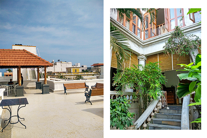 Pondicherry | Akanksha Redhu | rooftop and from garden