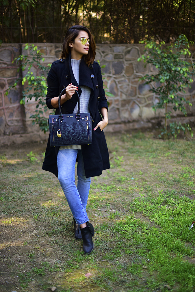 Winter Essentials | Akanksha Redhu | full front looking side leg in front