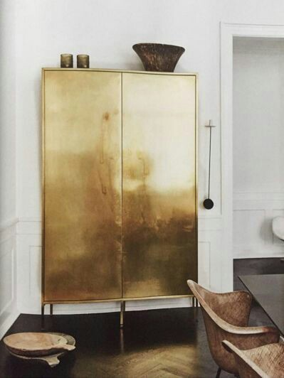 Home Inspo | Akanksha Redhu | golden cupboard