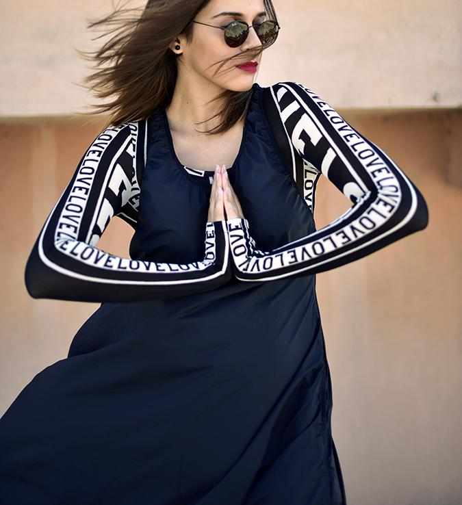 H&M Studio SS17   Akanksha Redhu   half front namaste