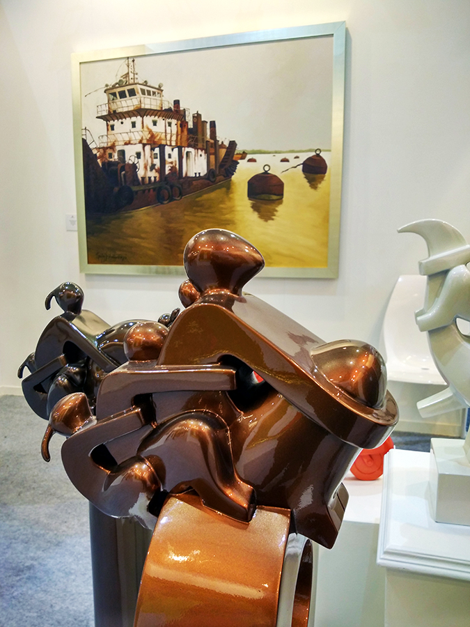 India Art Fair | Akanksha Redhu | triplet sculpture