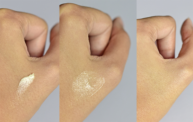 Alpha-H Beauty Sleep Power Peel | Akanksha Redhu | texture on hand