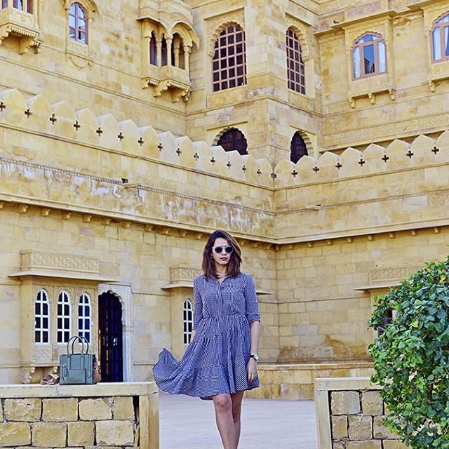 Explore suryagarh Jaisalmer with me on httpakanksharedhucom Dress hm Pichellip