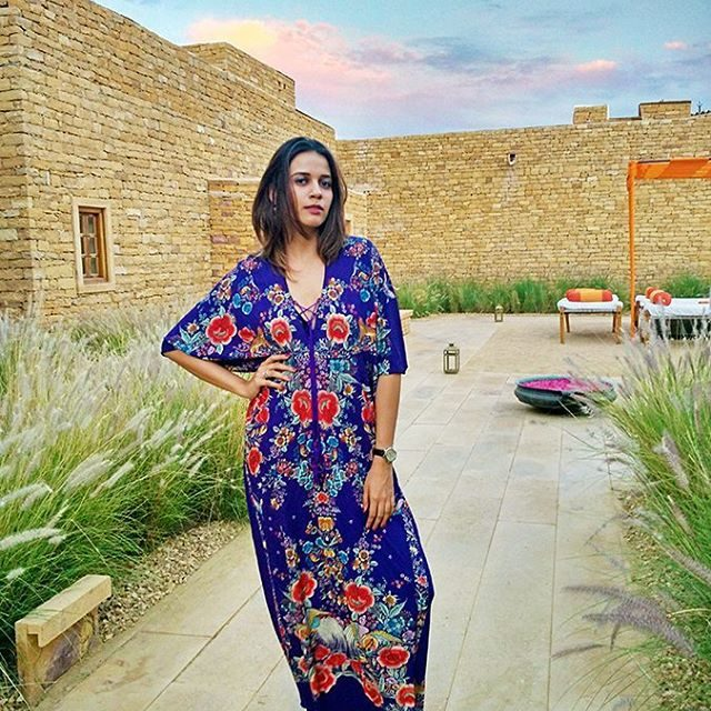 Just outside our villa at suryagarh Jaisalmer wearing a robertocavallihellip