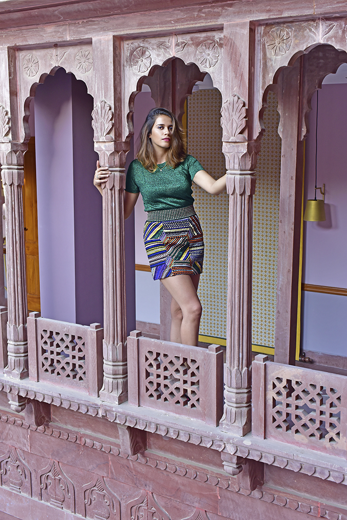 Narendra Bhawan | Akanksha Redhu | full front missoni pillars