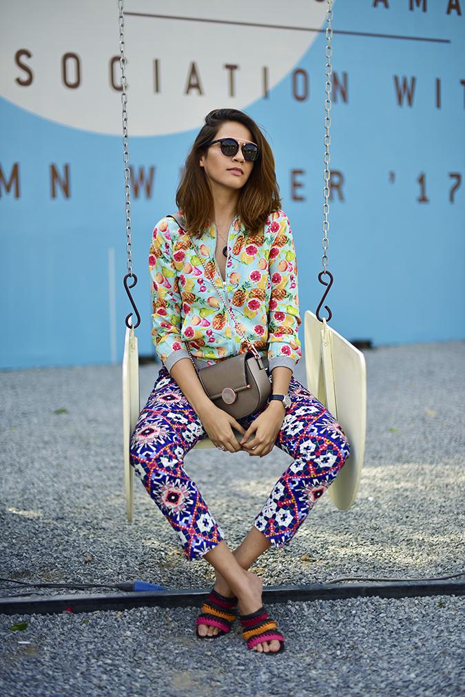Amazon India Fashion Week   Akanksha Redhu   sitting swing