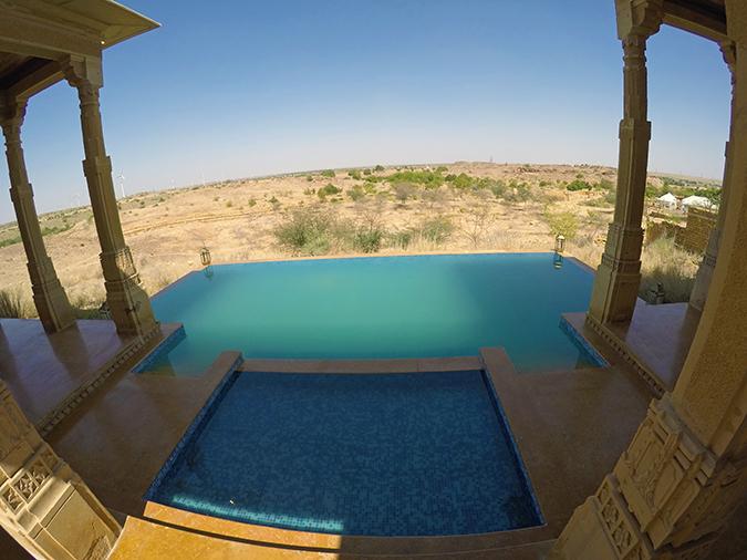 Suryagarh Jaisalmer | Akanksha Redhu | pool gopro