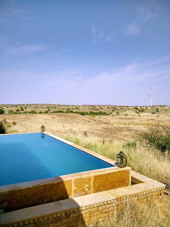 Suryagarh Jaisalmer | Akanksha Redhu | pool landscape phone