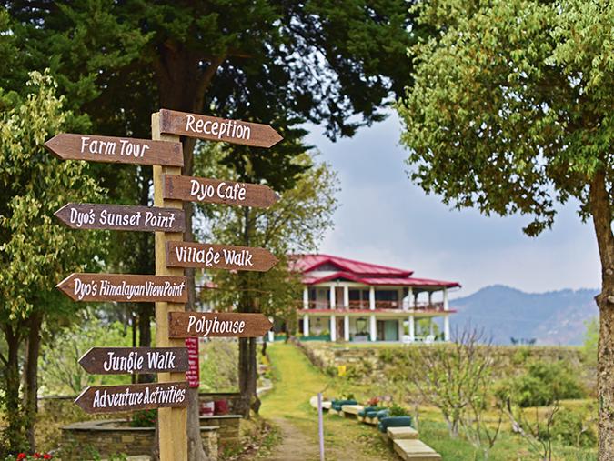 DYO The Organic Village Resort | Akanksha Redhu | direction boards